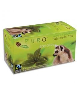 Boîte de 25 sachets de thé Earl Grey enveloppés 2g Fairtrade Tea - Puro® by Miko®