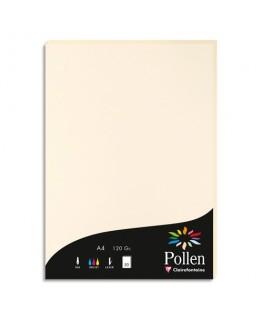 Etui de 50 feuilles papier couleur POLLEN A4 120g ivoire - Clairefontaine