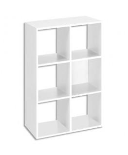 Bibliothèque multi-cases 6 cases MT1 élégance coloris blanc