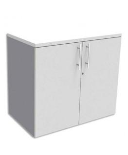 Armoire basse aluminium 1 tablette avec porte