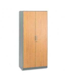 Armoire haute alu/hêtre L180 cm gamme Scénario - Simmob