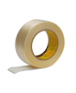 Ruban armé renforcé en fils de verre 131 microns - 50 mm x 50 m - Scotch®