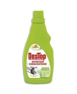 Flacon Javel 750 ml entretien des canalisations désodorise