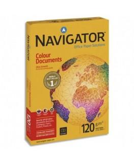 Ramette de 250 feuilles papier blanc Navigator Colour Documents 120g CIE 169, format A4 - Navigator