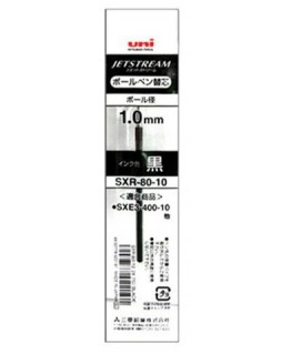 Recharge pour stylo bille 3 couleurs Jetstream RT rétractable, encre gel - Uni-Ball®