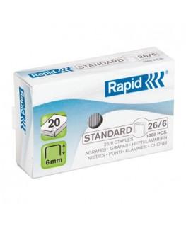 Boîte de 1000 agrafes Nº26/6 galvanisées - Rapid®