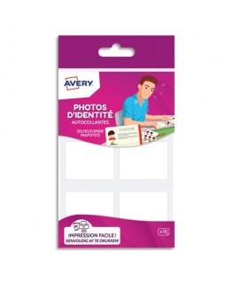 Blister de 18 photos d'identités autocollantes et imprimables 35 x 45 mm - Avery®