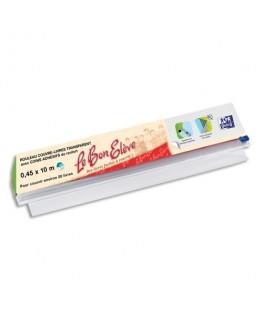 Rouleau couvre-livres 0.45 x 10 m avec angle adhésifs et cutter sécurisé Bon Elève - Elba®