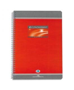 Cahier reliure spirale 17 x 22 cm 100 pages grands carreaux papier 70g NF 60 - Conquérant 7 by Hamelin
