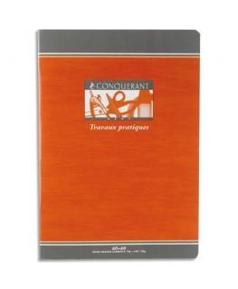 Cahier travaux pratiques 32 pages Seyès + 32 pages unies 17 x 22 cm papier 70g couverture carte - Conquérant 7 by Hamelin