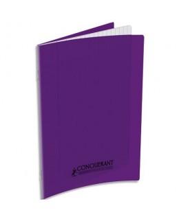 Cahier piqûre 32 pages (idéal pour les maternelles) Seyès 17 x 22 cm couverture polypropylène violet - Conquérant by Hamelin