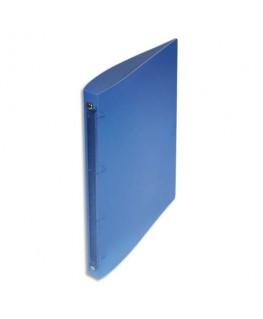 Classeur 4 anneaux polypropylène dos 2 cm Bleu translucide