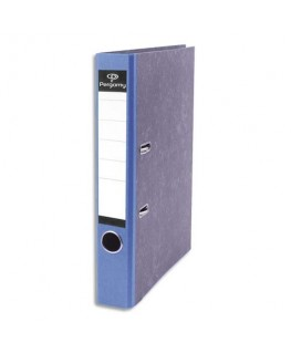 Classeur à levier en carton gris intérieur/extérieur marbré