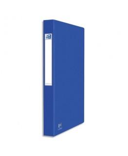 Classeur en carte grainée 7/10e à 2 anneaux de 25 mm dos 3.5 cm coloris bleu - Oxford