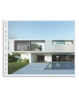 Boîte de pochettes perforées A3 paysage grainées, perforation universelle 11 trous - Oxford