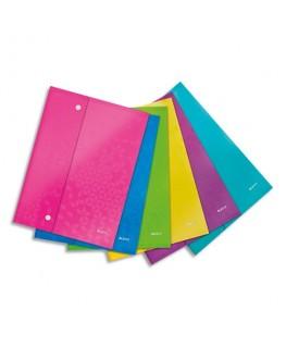 Pochette enveloppe à double pression WOW en polypropylène opaque 2/10e, format A4, coloris assortis - Leitz®