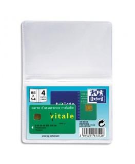 Etui pour cartes de crédit, 5.4 x 8.5 cm, PVC - Oxford