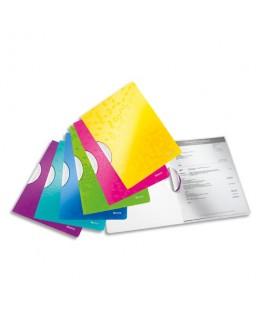Chemises à clip Colorclip Wow en polypropylène opaque 5/10e, coloris assortis - Leitz®