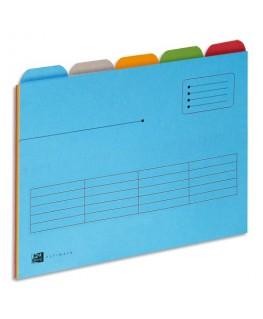 Paquet de 25 chemises à onglets (5x5) pour tiroir Ultimate, format A4, carte Canson®, coloris assortis - Oxford