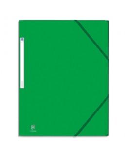 Chemise 3 rabats et élastique Eurofolio en carte lustrée 5/10e - Oxford
