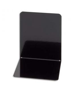 Lot de 2 serre-livres en acier brillant, coins arrondis, L14 x H14 x P12 cm, noir - Maul