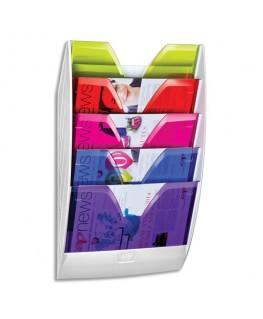 Présentoir mural magnétique 154H HAPPY 5 cases multicolore - CEP