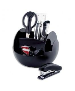 Pot multifonctions rotatif noir 6 cases, livré avec 9 produits, diamètre 15 cm, hauteur 11 cm - Pavo