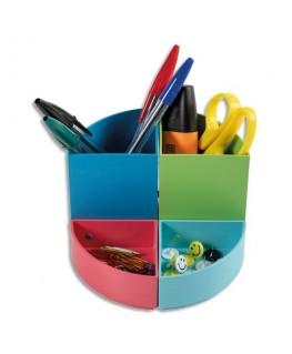 Pot à crayons modulable 4 quartiers qui peuvent être combinés ensemble ou superposés - Exacompta