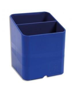 Pot à crayons Pen-Cube Iderama 2 compartiments. passe-câble sous le pot à crayon pour bloquer un fil - Exacompta
