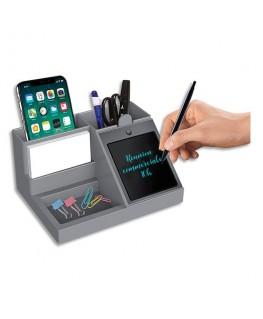 Organiseur bureau 4 compartiments, équipé d'un bloc-notes 2.0, écran détachable 10.6 cm (livré avec stylet) - Orium® by Cep