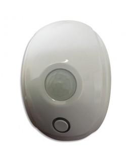 Détecteur mouvement Smart CE Blanc, 2 piles AA fournies, détection à 5-10m - Lifebox
