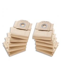 Lot de 10 sacs en papier, 2 couches, pour aspirateur 10/1 - Kärcher