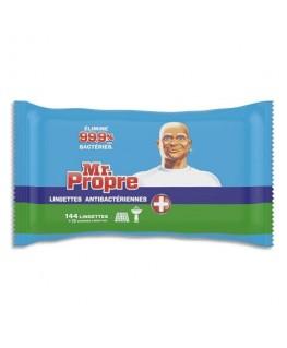 Paquet de 144 lingettes antibactériennes, éliminent les bactéries - Mr Propre