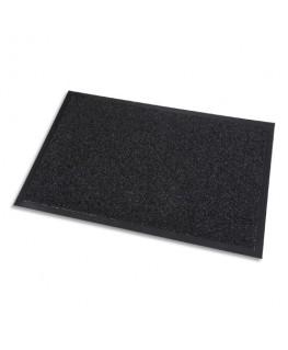 Tapis d'accueil grattant intérieur et extérieur en polypropylène noir, épaisseur 10 mm - Paperflow