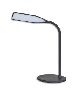 Lampe Led Smart noir en ABS, tête L24 cm, bras H35 cm, socle ∅17 cm - Alba