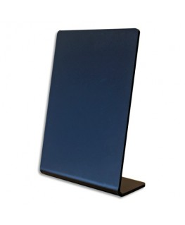 Ardoise inclinée en L en acrylique noir, épaisseur 2 mm - Deflect-O®
