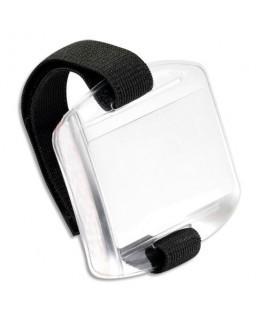 Boîte de 10 brassards porte-badge transparents, ruban scratch ajustable Pour badges 54 x 86 mm - Avery®