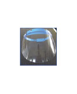 Visière protection polycarbonate avec serre-tête réglable, 31.5 x 19.5 cm