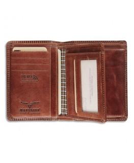 Portefeuille RFID Maverick Dalian II, 8 compartiments, poche monnaie, 9.5 x 12.5 cm Marron - Brepols