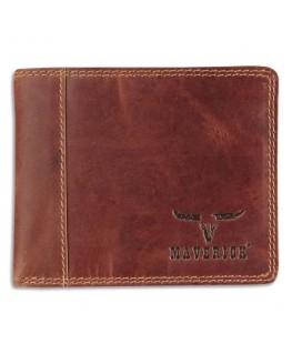 Porte-monnaie compact RFID, 1 poche fenêtre, 8 compartiments, poche monnaie, 11 x 9 cm Marron - Brepols