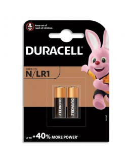 Blister de 2 piles Alcalines N MN9100 Duralock pour alarmes et télécommandes - Duracell®