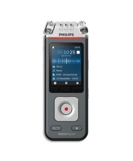 Enregistreur numérique DVT6110 8Go, 3 micros : stéréo + zoom - Philips