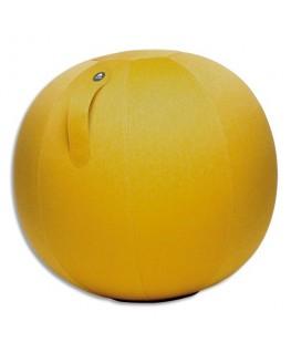 Ballon Ball Move Up jaune safran, résistant, anti-éclatement, gonflable, poignée de transport, D65cm - Alba
