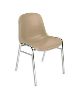 Chaise coque beige Didiplast sans accroche