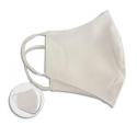 Masque barrière textile blanc déperlant/résistant à l'eau, lavable 30 fois, stérilisé, protection UV UPF50+