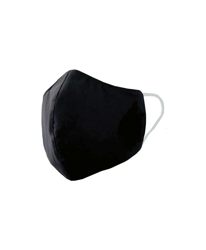 Masque barrière textile noir déperlant/résistant à l'eau, lavable 30 fois, stérilisé, protection UV UPF50+