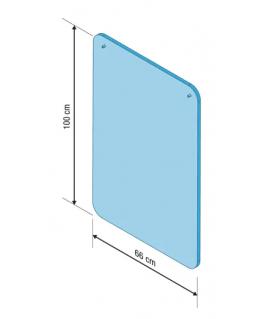 Vitre protection PMMA à suspendre, sans kit et sans fenêtre, 99 x 66 cm