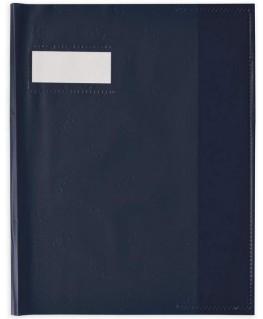 Protège-cahier Grain Styl'SMS en PVC noir 12/100e - Oxford