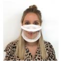 Masque inclusif transparent UNS1 garanti lavable 20 fois