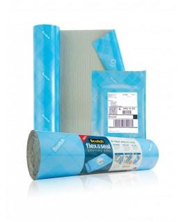 Rouleau d'expédition Flex & Seal Bleu en polyéthylène à bulles, à découper, étanche - Scotch®